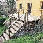 conception pose garde corps terrasse bois vendee