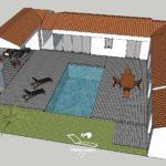 simulation terrasse bois 3d vendee