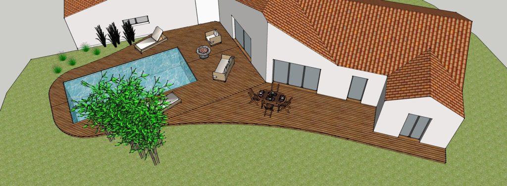 simulation terrasse bois en 3d vendee