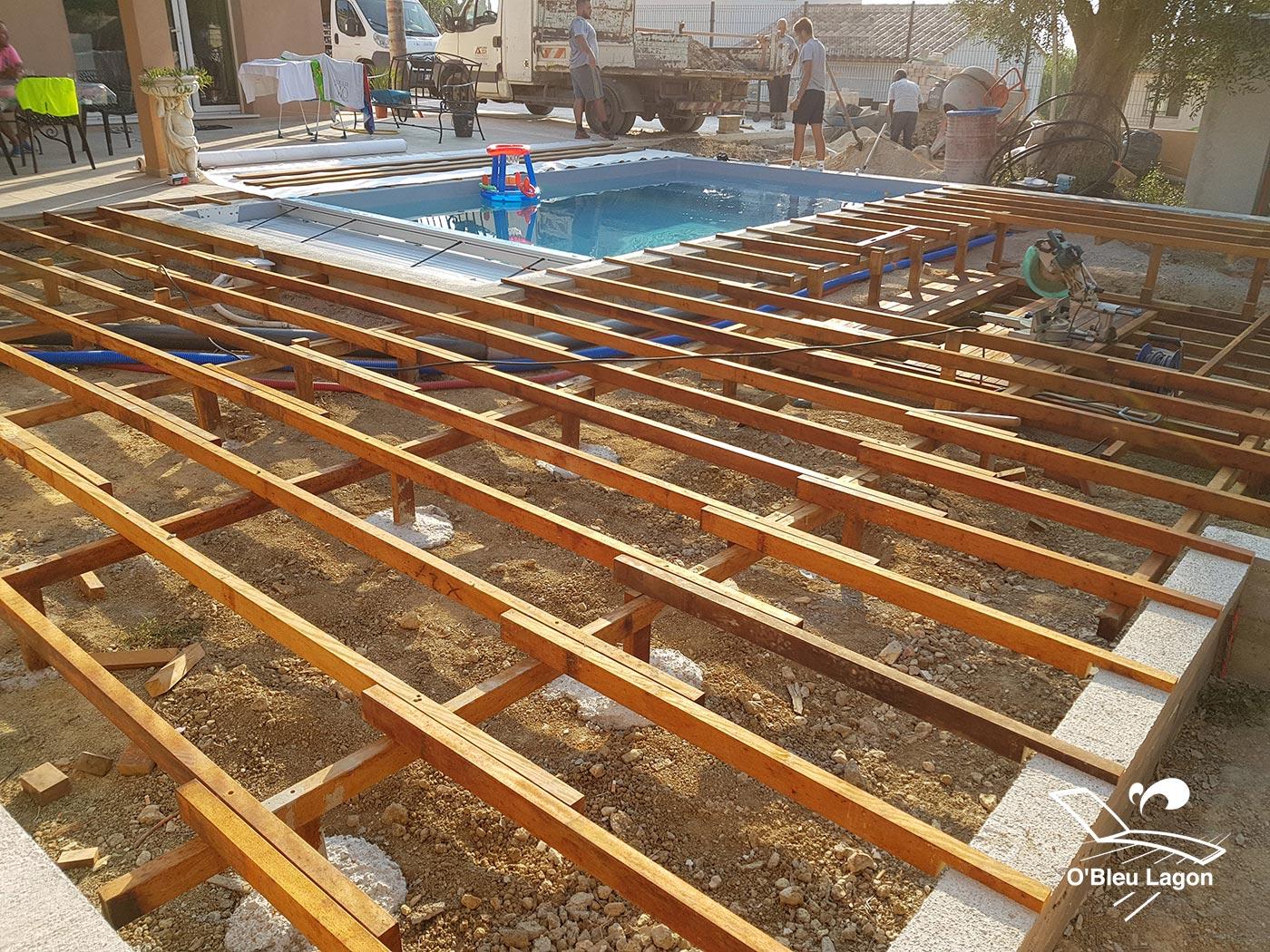 chantier terrasse bois salon marocain vendee