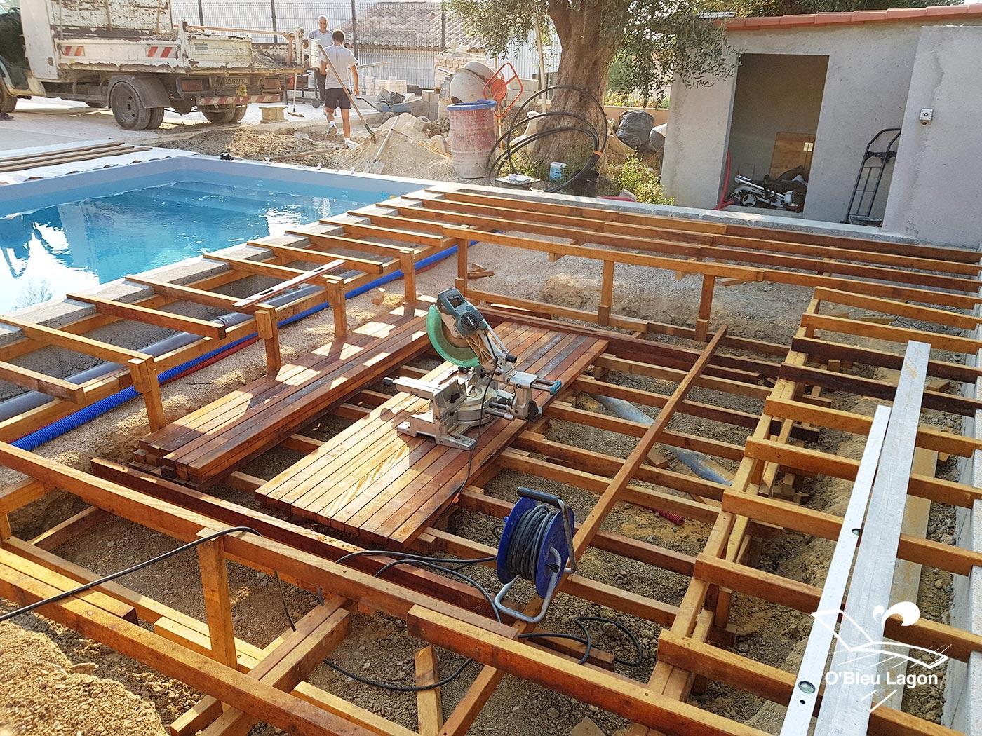 chantier terrasse ipe salon marocain vendee