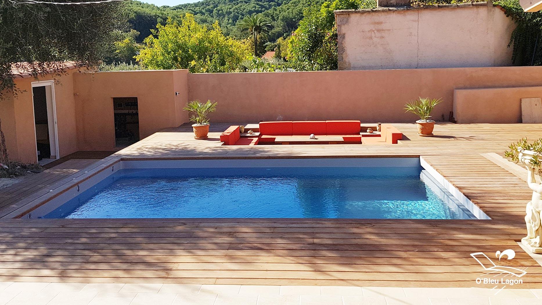 conception espace terrasse bois salon marocain vendee