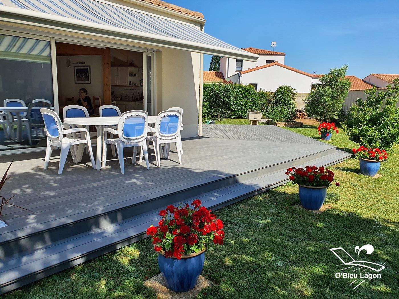 conception grande terrasse composite gris clair vendee
