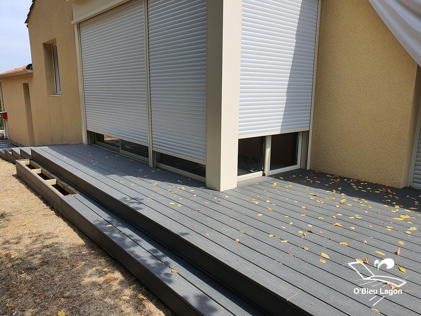 conception petite terrasse composite anthracite clair vendee