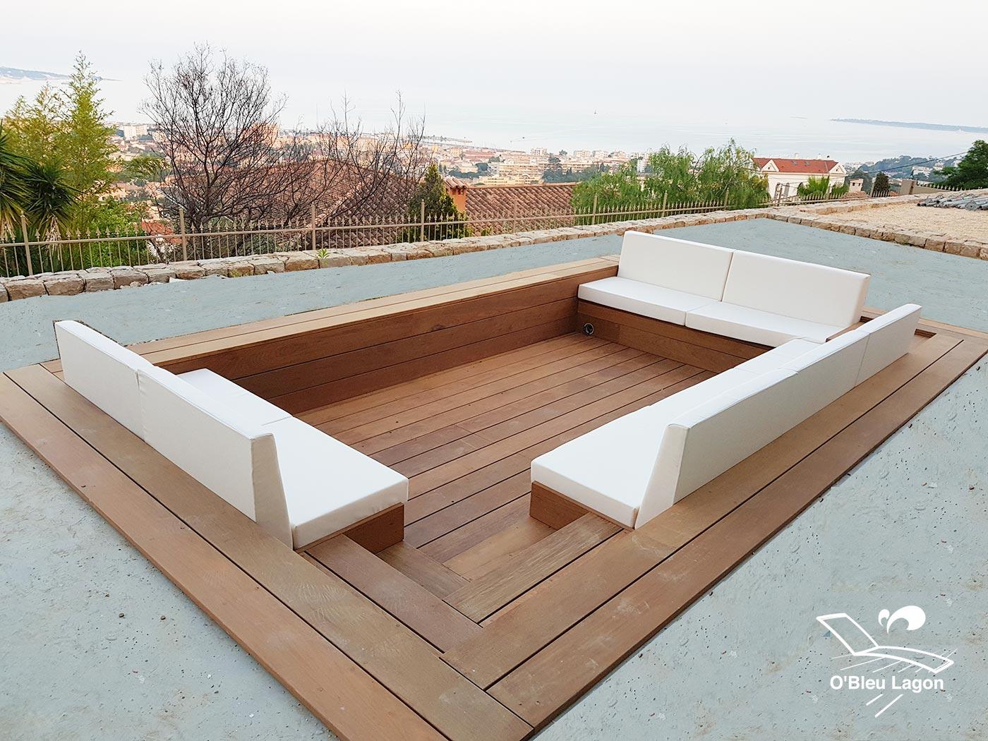 conception salon marocain bois ipe vendee