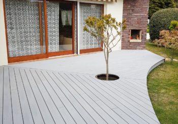 conception terrasse bois derive composite en courbe vendee