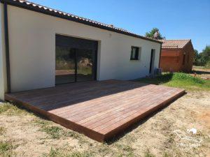 conception terrasse bois exotique moderne cumaru vendee
