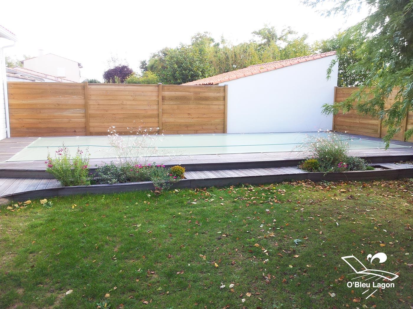 conception terrasse bois frene entourage piscine vendee