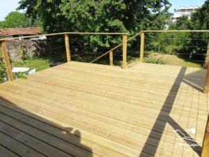 conception terrasse bois garde corps pin traite classe 4 vendee