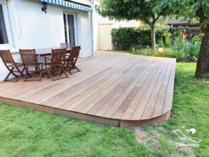 conception terrasse bois ipe forme arrondie vendee