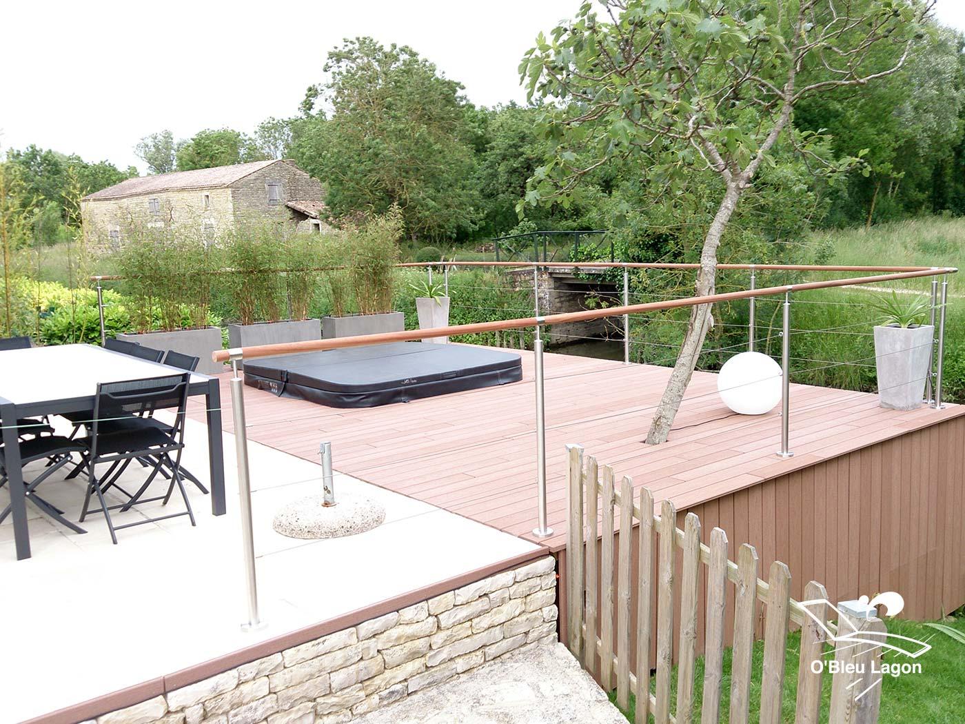 conception terrasse composite avec spa vendee