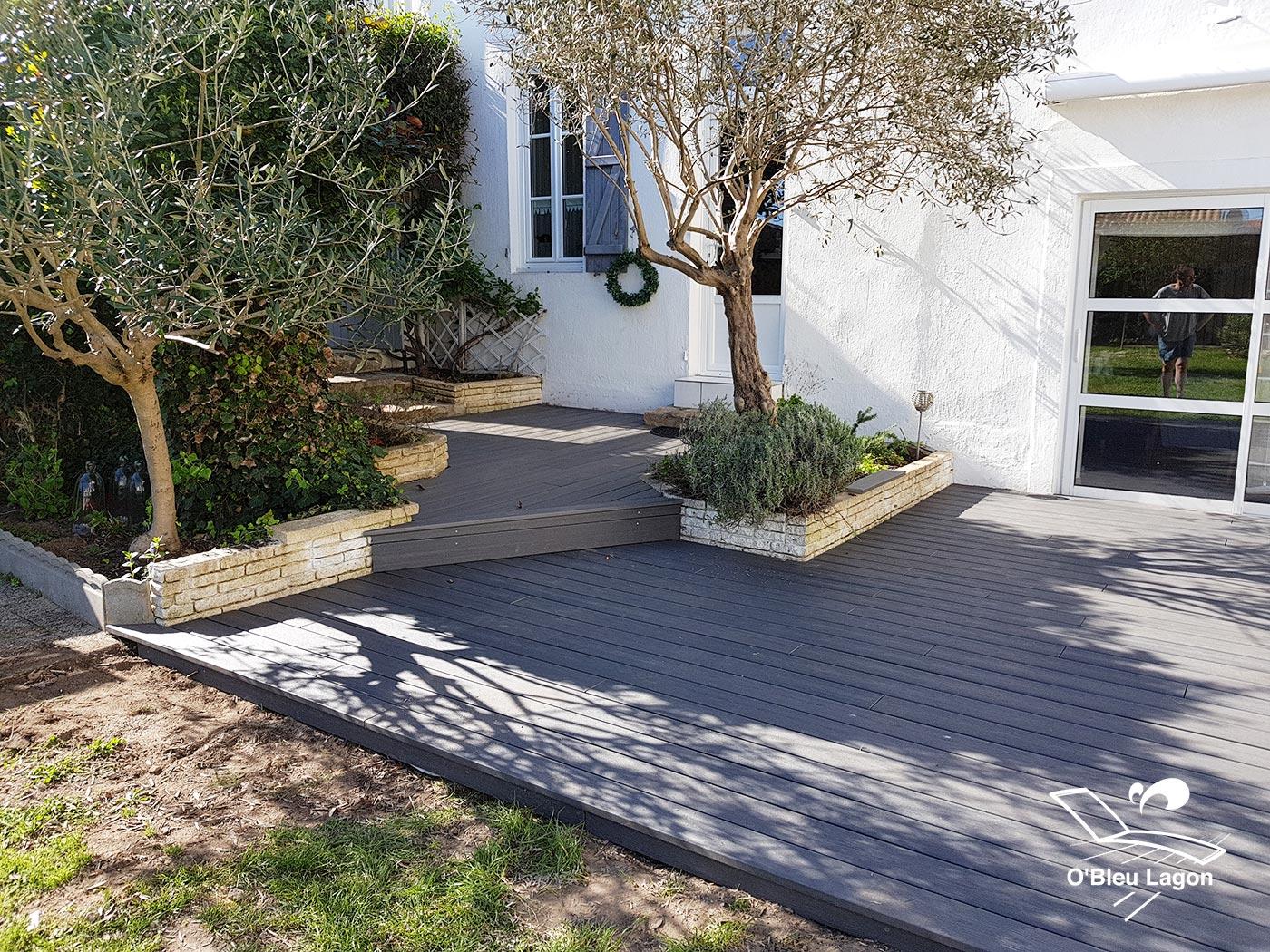conception terrasse composite gris vendee