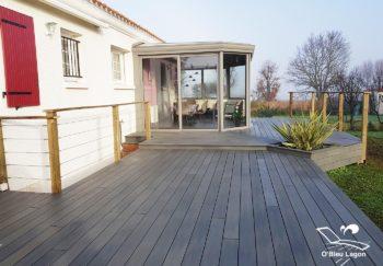 conception terrasse derive composite avec garde corps vendee