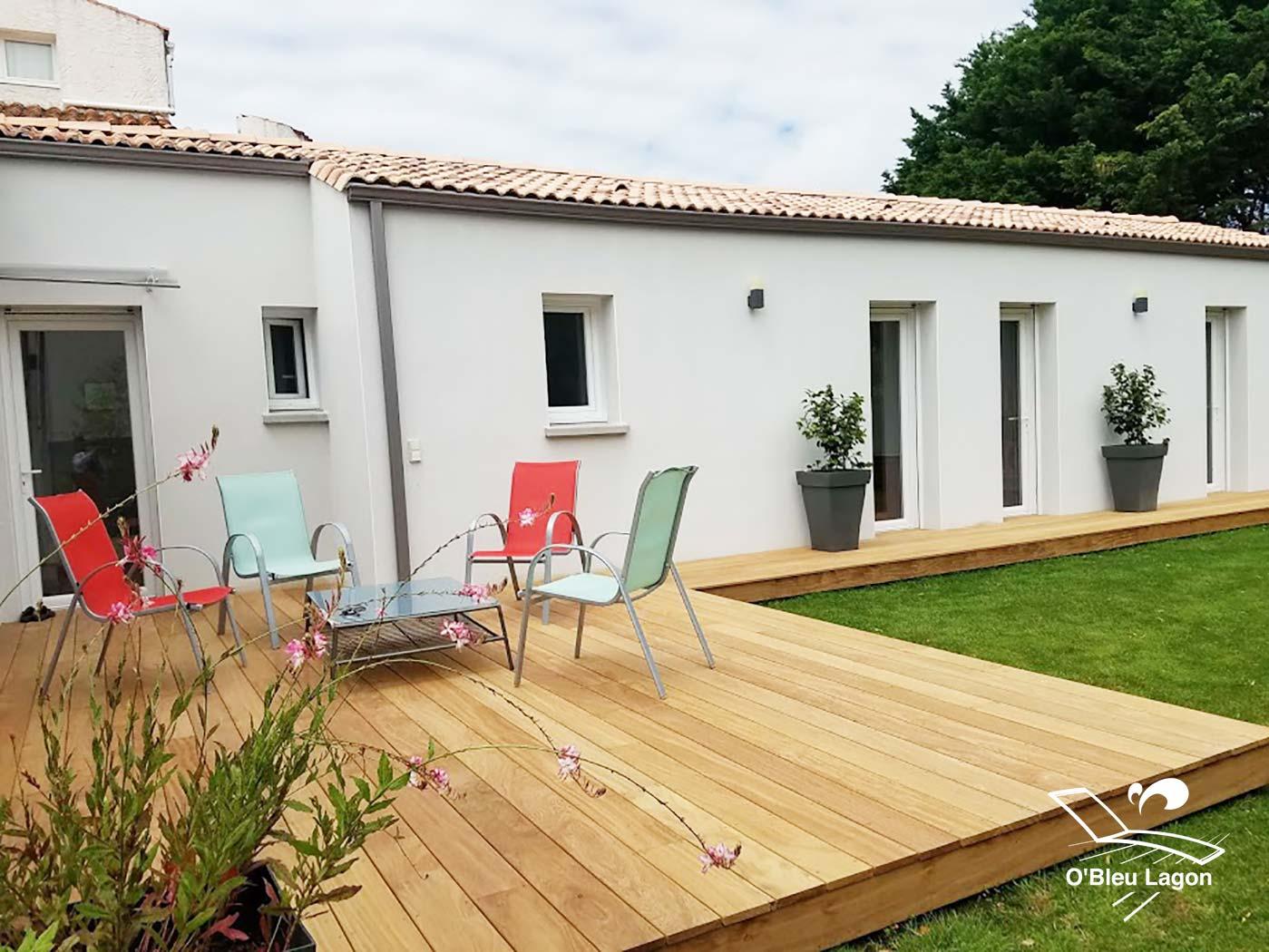 conception terrasse moderne bois exotique cumaru vendee