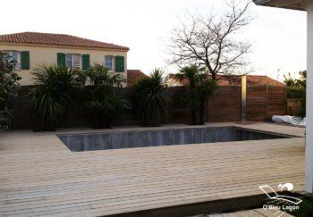 conception terrasse piscine bois pin vendee