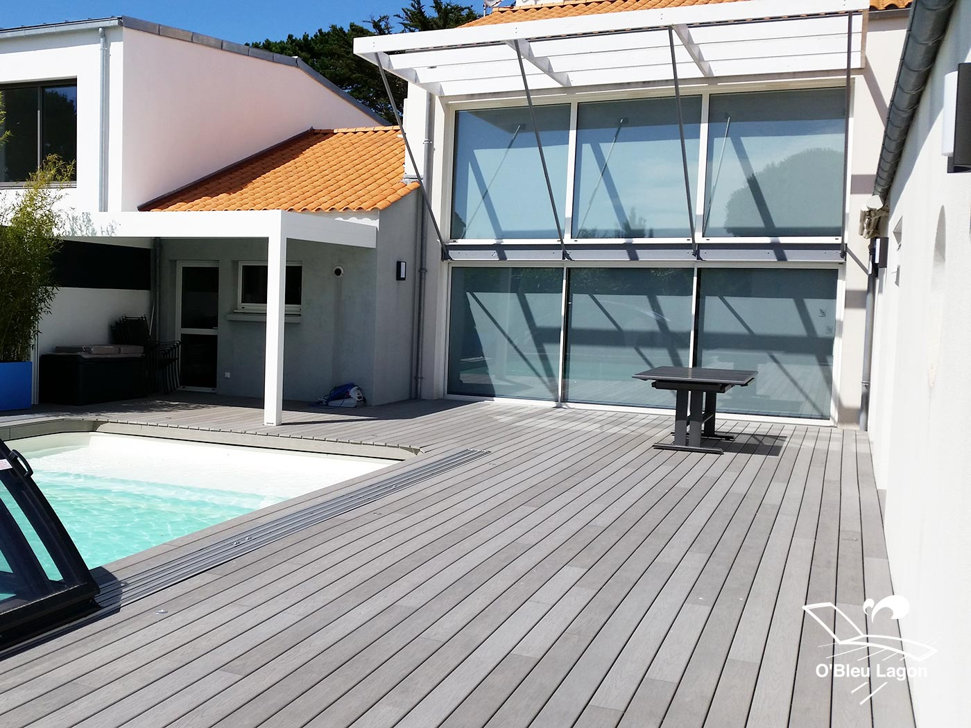 conception terrasse piscine composite vendee
