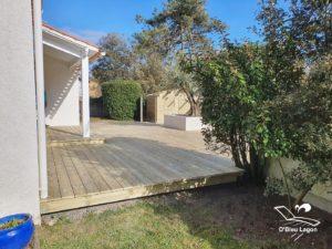 menuisier terrasse bois en pin obleulagon vendee