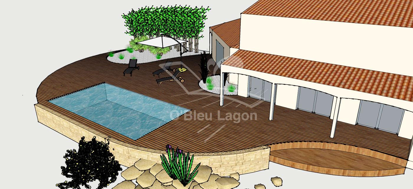 plan 3d projet terrasse piscine vendee