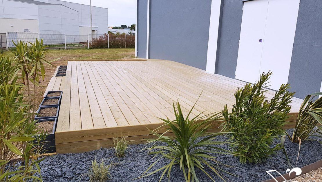 pose terrasse bois pin simple vendee