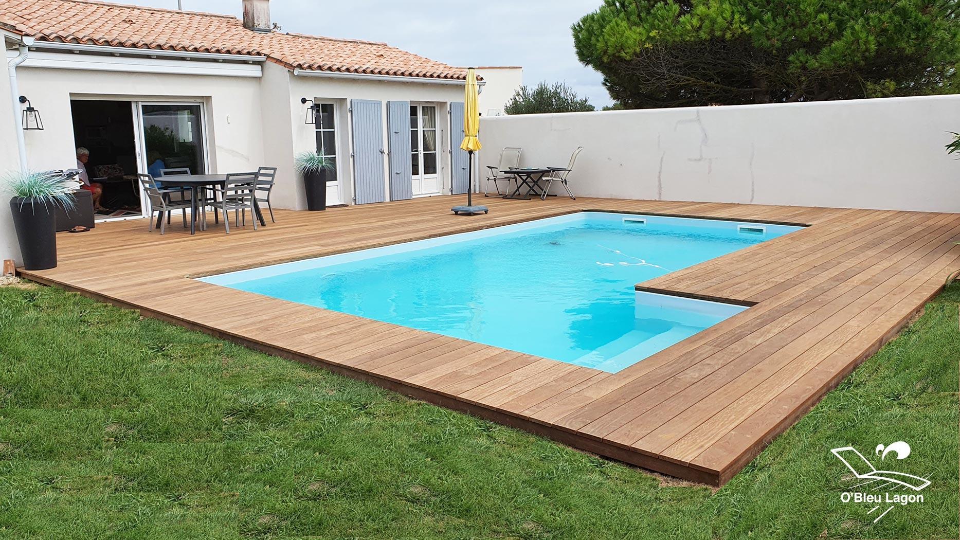 pose terrasse de piscine en bois exotique cumaru vendee
