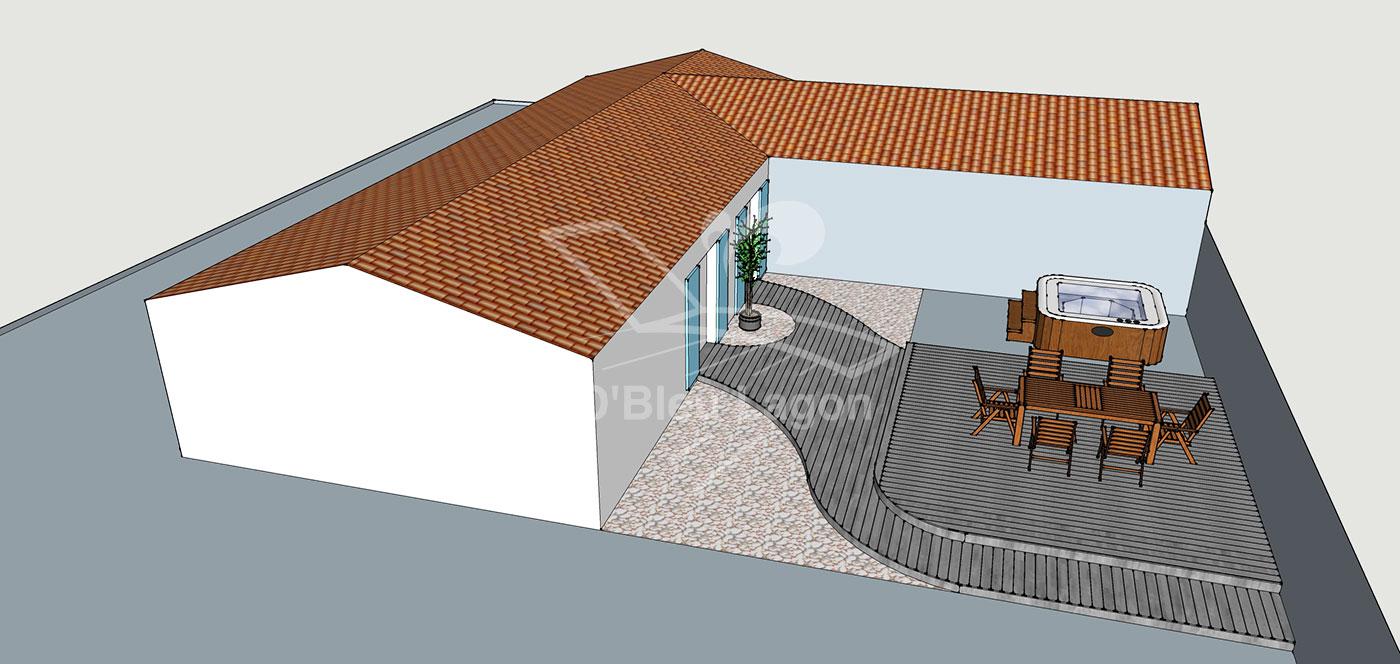 simulation 3d espace terrasse spa vendee