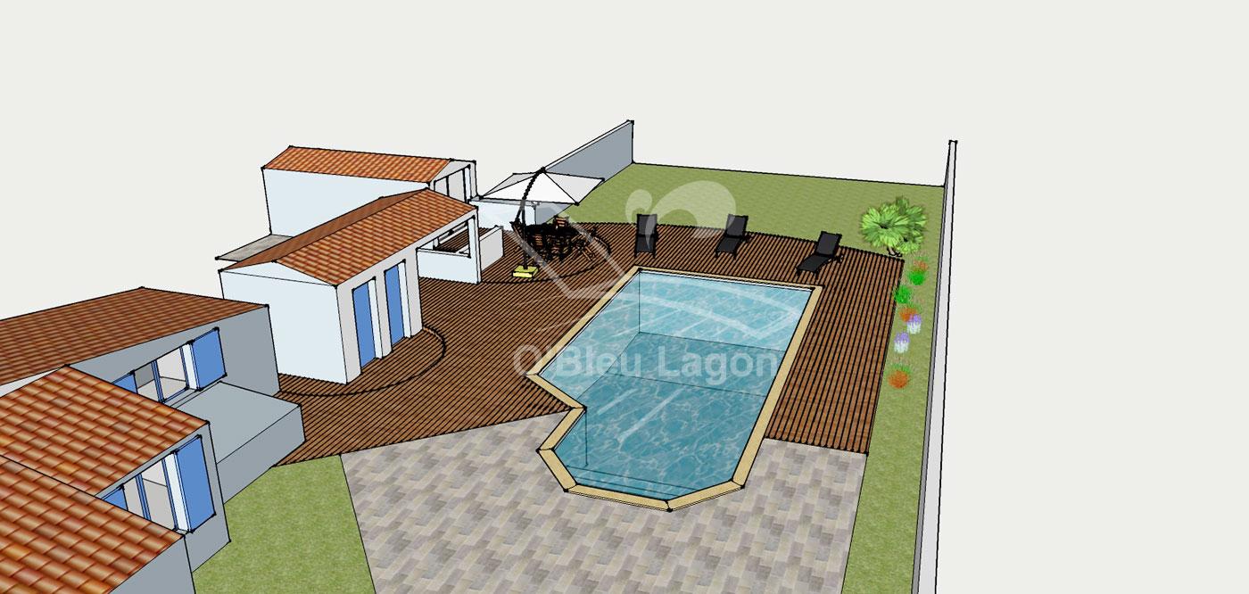 simulation 3d projet terrasse piscine